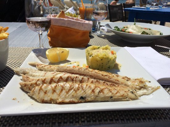 Cap d'Antibes Beach Hotel : Grilled Sole in the Le Cap