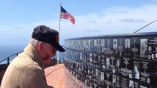 Mount Soledad: Watching my grandfather read all the plaques really touched me. He is a POW of the Korean  War.