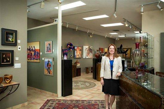 Cobalt Fine Arts Gallery: Gallery inside.