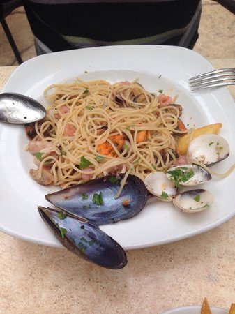 Estilo: Seafood pasta