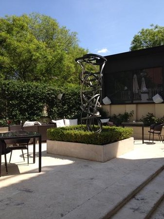 Hotel Villa Duse: jardin