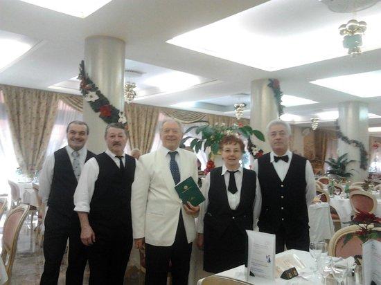 Hotel Terme Patria : Lo staff della sala