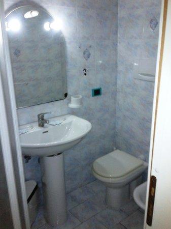 Hotel New Crostolo: Bagno un po' piccolo ma completo anche di asciugacapelli