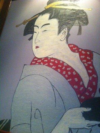 Osaka Japanese Steakhouse: large wall paintings