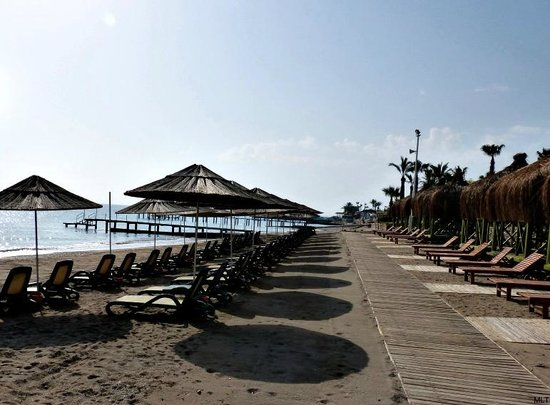 Renaissance Antalya Beach Resort & Spa: The beautiful sandy beach, that is rare in this area of Turkey