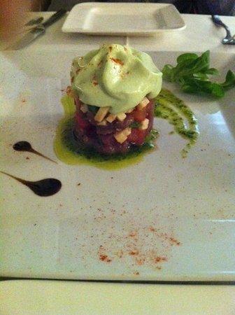 Restaurante El Navarro : Tartar de atún y crema de aguacate