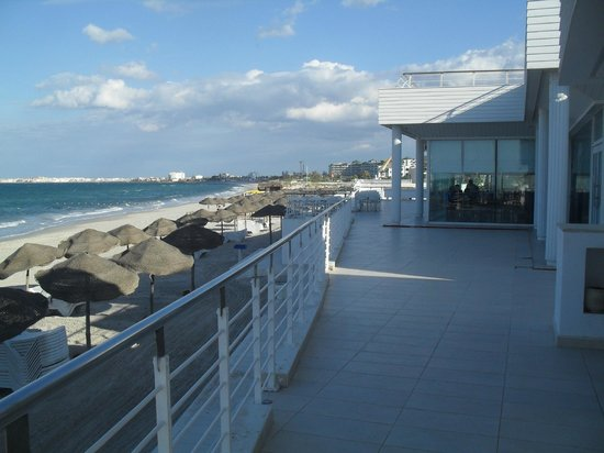PrimaSol El Mehdi: view from beach bar balcony