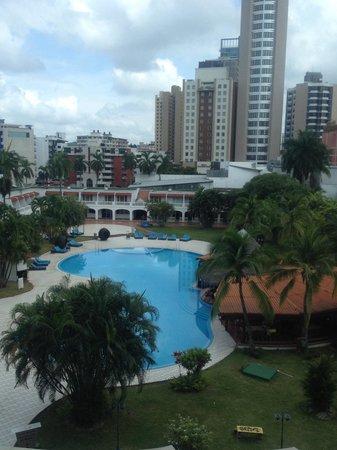 Hotel El Panama: Vista a la piscina