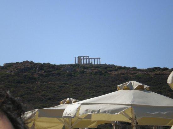 Aegeon Beach Hotel: ναος του Ποσειδωνα!