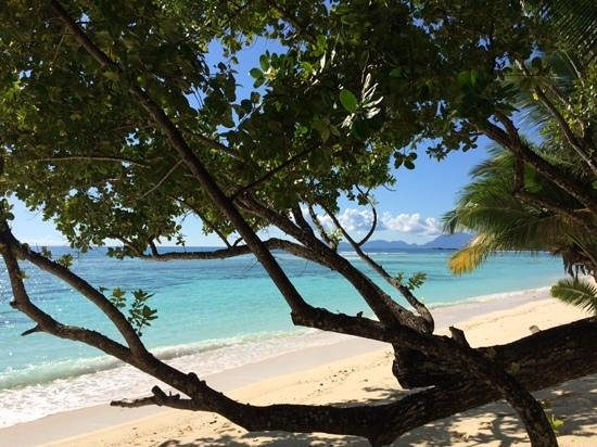 Hilton Seychelles Labriz Resort & Spa : Strand direkt vor dem Zimmer