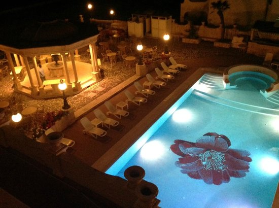 Hellenia Yachting Hotel: view from room at night