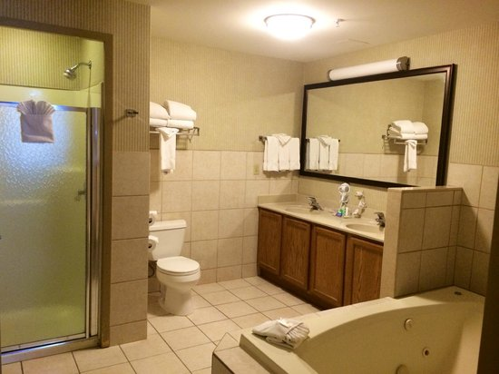 Comfort Suites O'Hare: Whirlpool Suite Bathroom