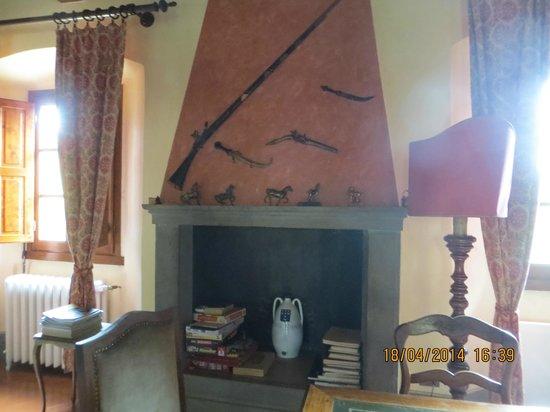 Villa Rigacci: una sala della villa