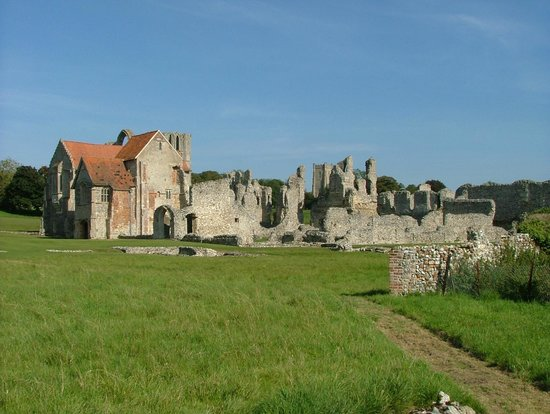Castle Acre Priory: View from the rear.