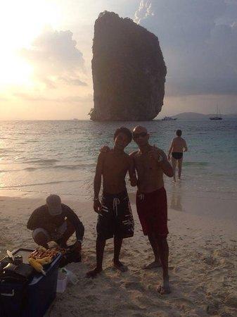 Ao Nang, Thailand: The boys xx