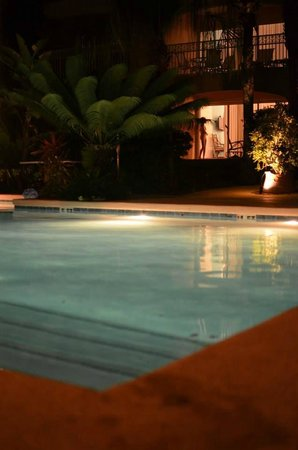 Inn at Grace Bay: night swimming with the kids