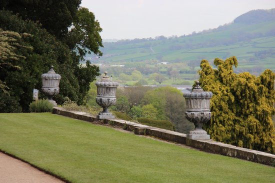 Powis Castle and Garden: View from upper garden path