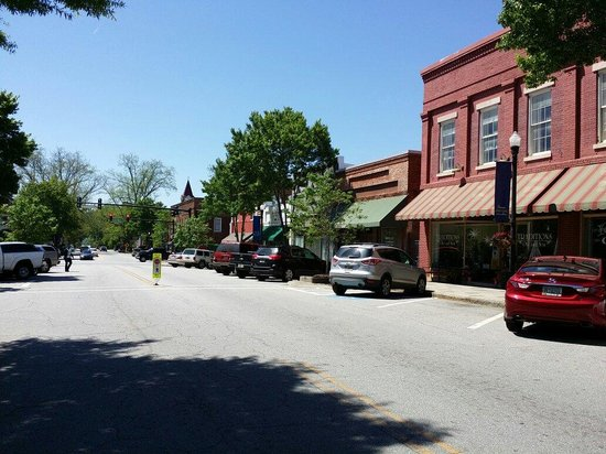 Cute historic town of Greenville,  GA and the Yesterday Cafe