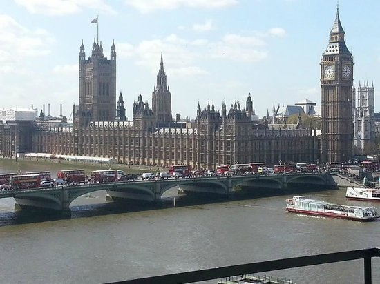 London Marriott Hotel County Hall: the view from our 6th floor balcony