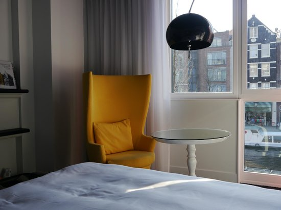 Andaz Amsterdam Prinsengracht: Our room overlooking the canal.
