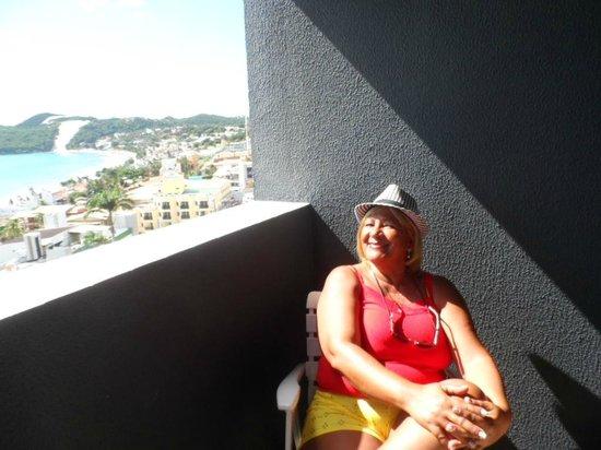 Quality Hotel & Suites Natal: Sacada da Suíte, frente para o mar.