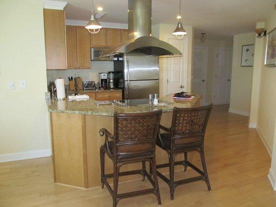 Wild Dunes Resort: Kitchen area from living room towards front hallway