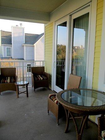 Wild Dunes Resort: Balcony off master bedroom