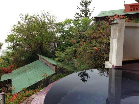 Jade Mountain Resort : The overlooked sun room (lowest sun room) at Jade Mountain