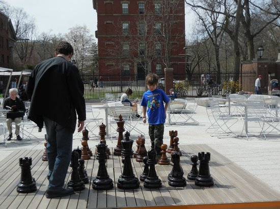 Russell House Tavern: Father & Son playing chess
