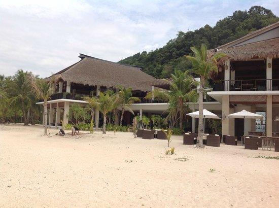 El Nido Resorts Pangulasian Island: Restaurant and reception areas