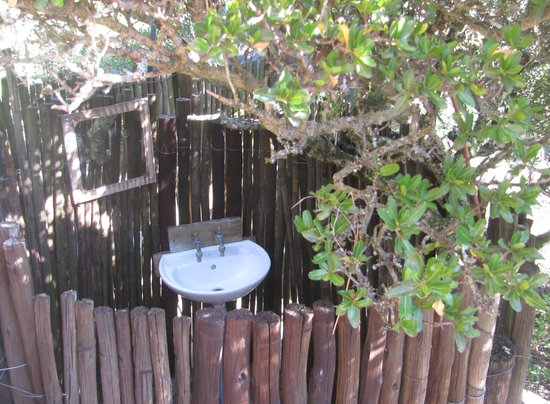 Addo Dung Beetle Guest Farm: Shower and wash basin