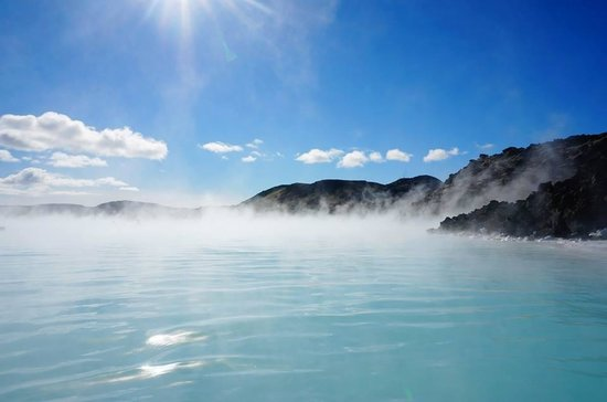 Warm, milky blue waters of the Blue Lagoon :)