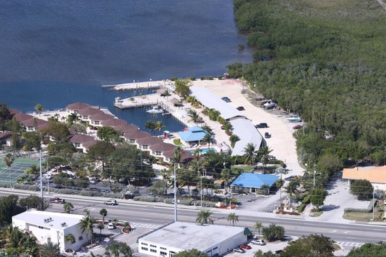 Reef Resort: Aerial view of resort grounds