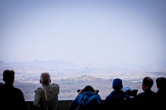 DMZ : zona de observacao da coreia do sul para o norte