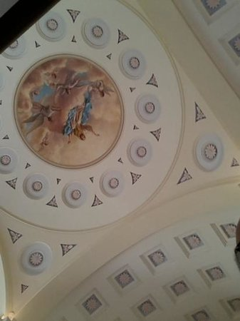 Basilica of the National Shrine of the Assumption of the Blessed Virgin Mary: Artwork on the dome of the church.