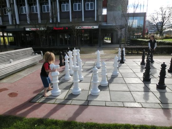 Palmerston North Clock Tower: 大きなチェスもありました