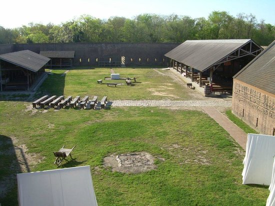 Old Fort Jackson: Top level view