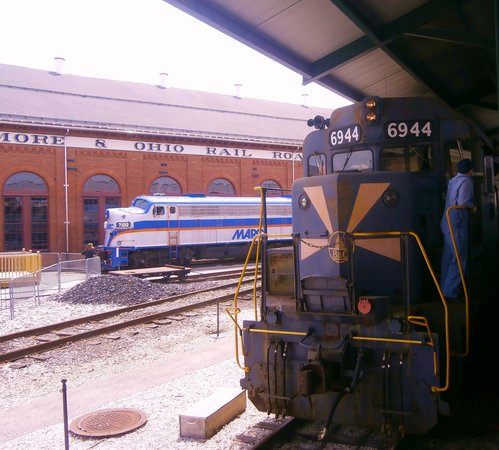 Baltimore and Ohio Railroad Museum: The train ready for departure