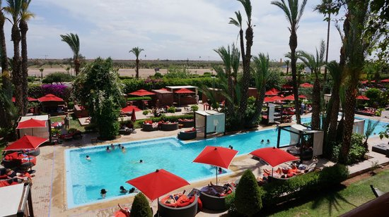 Sofitel Marrakech Lounge and Spa: View from our room 203