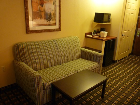 Comfort Inn Marion: Small, comfy sofa