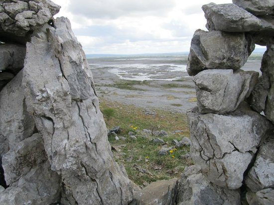 Burren Experience Guided Walks : through the wall on the top of Mullaghmore