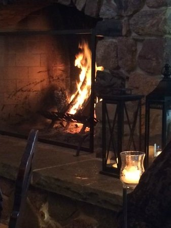 Timmer's On Big CEDAR Lake: Timmer's dining room fireplace