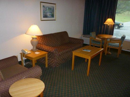 Vicksburg Inn & Suites: Spacious living area