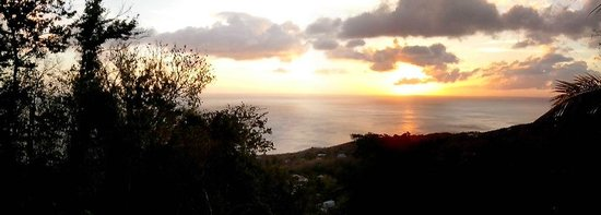 Villa Rose Caraibes : Coucher de soleil vu de la piscine