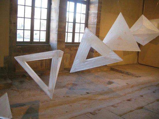 Art display inside the Barrage Vauban.