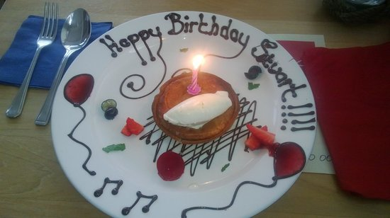 Jolly Jacks: Plum and Frangipan Tart with Chantilly Cream ..oh and birthday wishes
