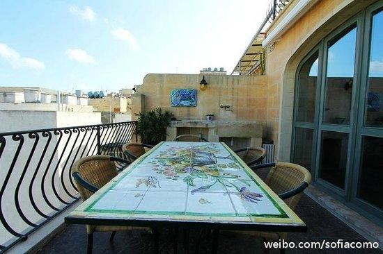Palazzo Prince D'Orange Luxury Suites: balcony of penthouse