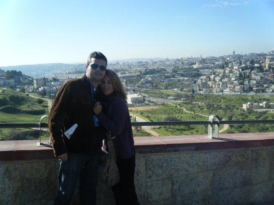 Ciudad Vieja de Jerusalén: ao fundo a velha cidade
