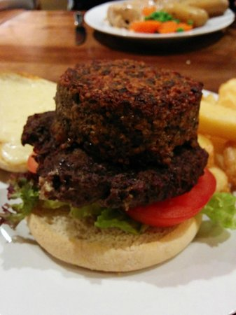 Auld Hundred: Burger with Haggis. Awesome!