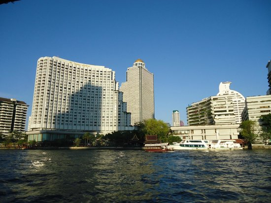 Royal Orchid Sheraton Hotel & Towers: View of the hotel from the Shuttle Boat